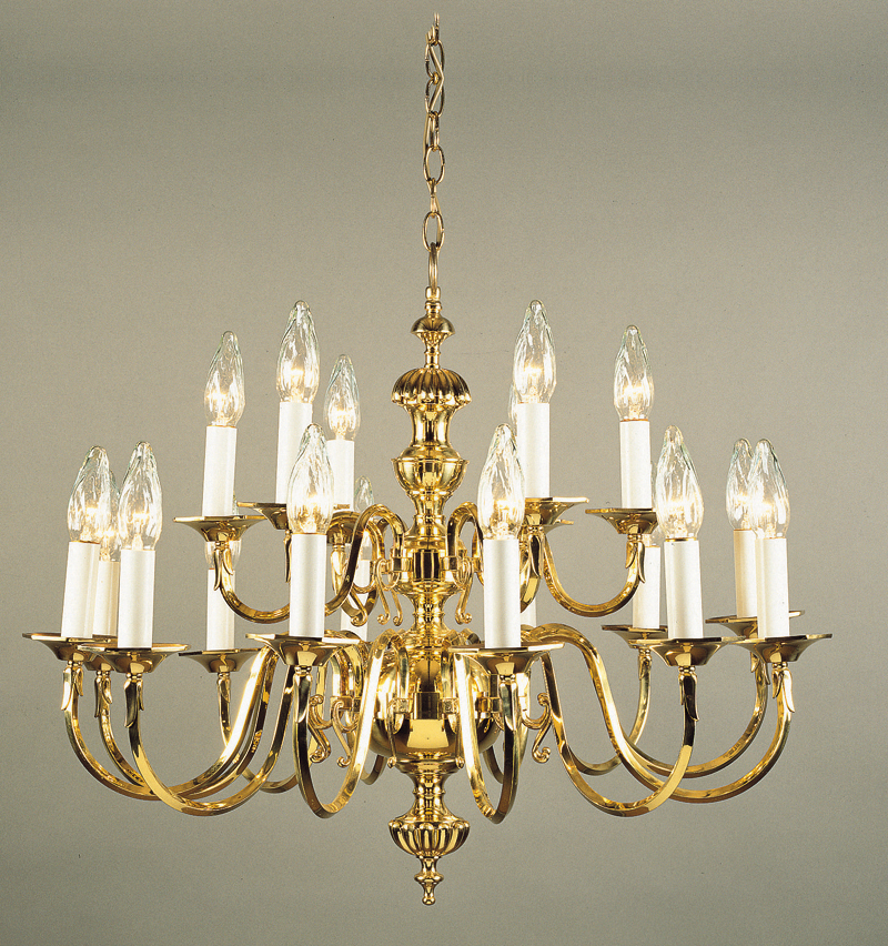 Brass Chandeliers London  Dutch / Flemish  Antique