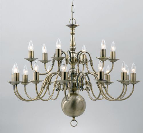 Click here for product information ... - Brass Chandeliers London Dutch / Flemish Antique