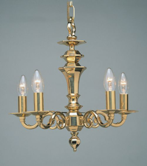 Click here for product information - Brass Chandeliers London Dutch / Flemish Antique